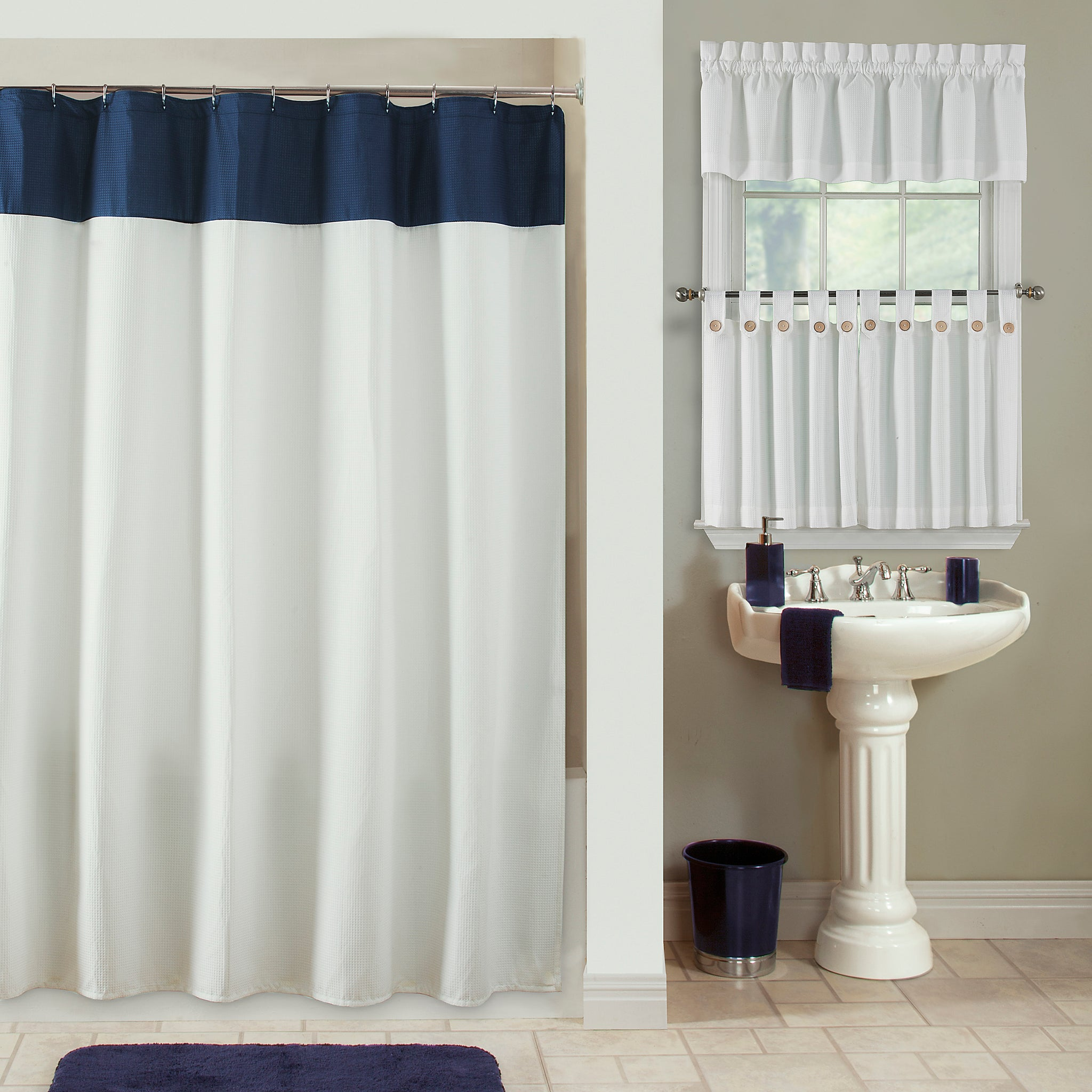 size grey curtains shower weave curtain within x waffle ideas design white