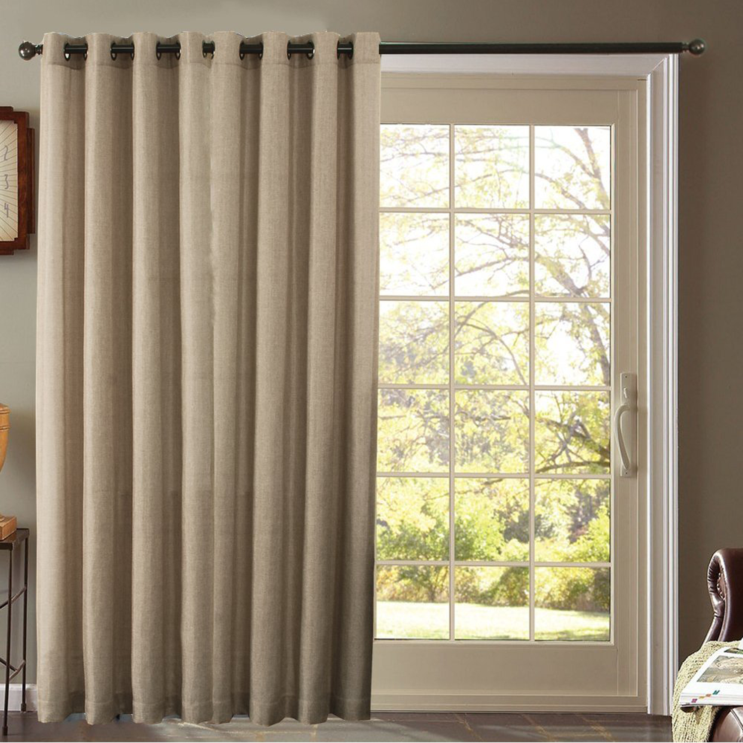 faux curtains top drapery linen chocolate curtain panels index