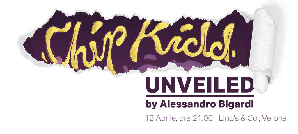 Chip Kidd. UNVEILED by Alessandro Bigardi