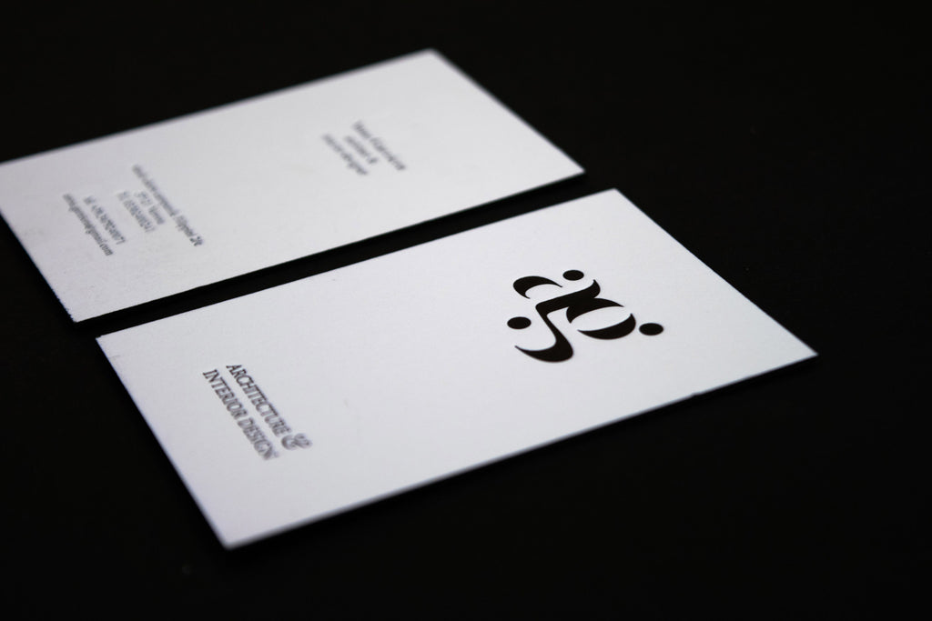 Anna Garziera - Letterpress business card