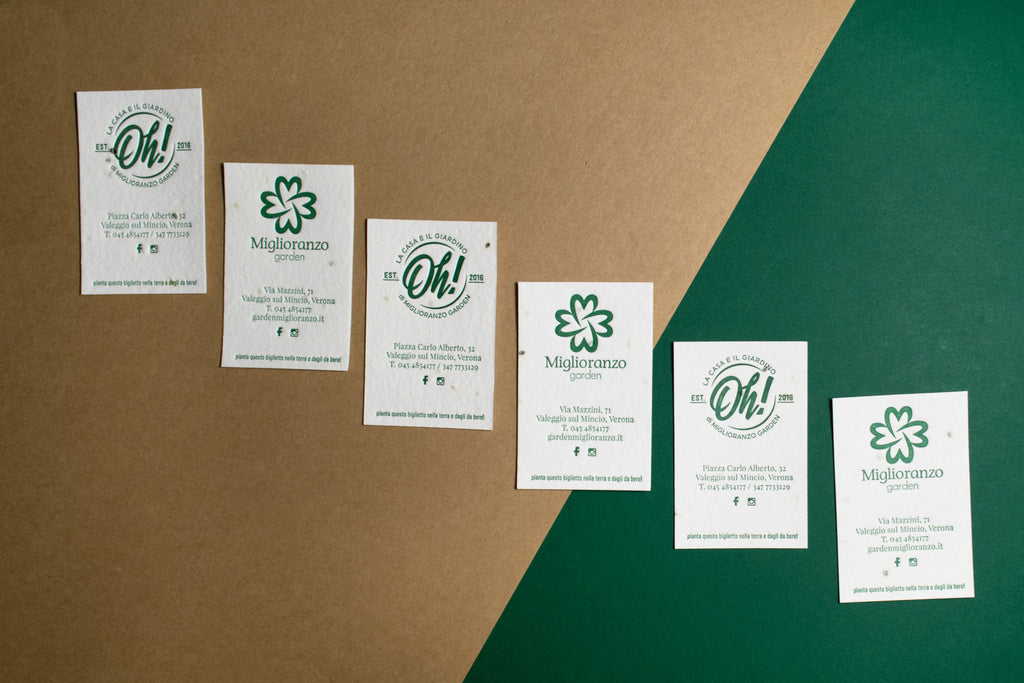 Miglioranzo Garden - Letterpress business card