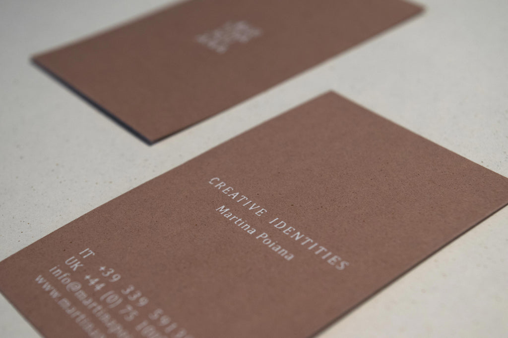 Martina Poiana - letterpress business card