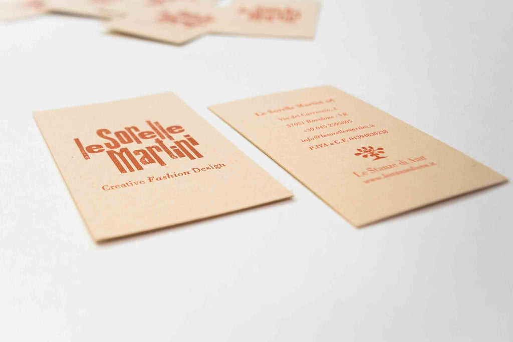 Le Sorelle Martini - letterpress business card