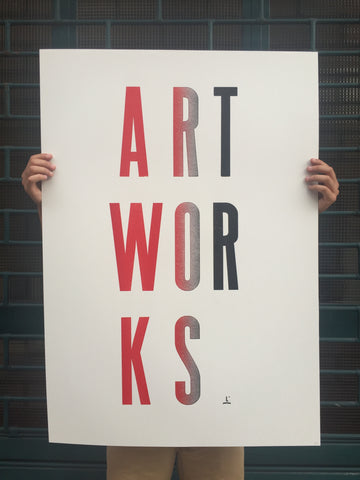 "Poster ""ART WORKS"""