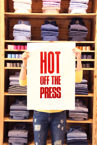 "Poster ""HOT OFF THE PRESS"""