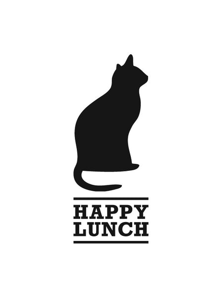 Lavagna adesiva - Happy Lunch Gatto