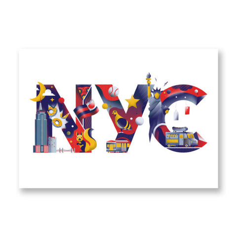 New York City Typography - MIRKO CÀMIA