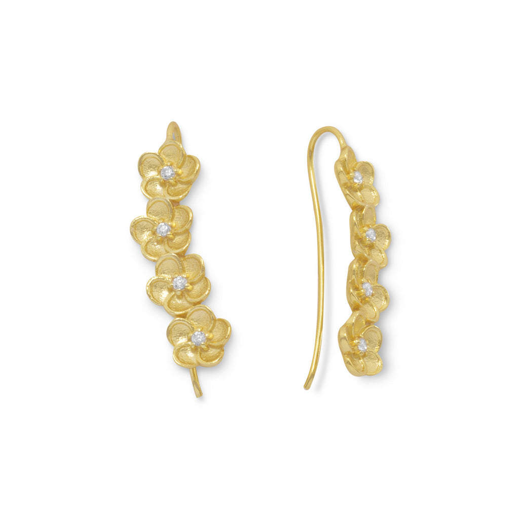 In Full Bloom Ear Climbers - AGOOA Inspiring and Natural Jewelry that Empowers You