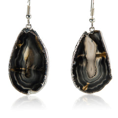 Strong as Stone Earrings | Black Agate Earrings | AGOOA Jewelry | Best Jewelry for Women | AGOOA Blog Lifestyle with Meaning