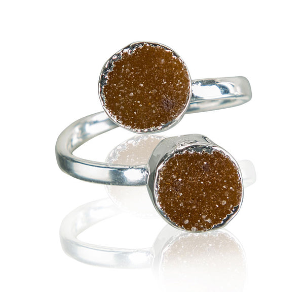 Radiate and Meditate Double Gemstone Ring - AGOOA Inspiring and Vibrant Jewelry that Empowers You