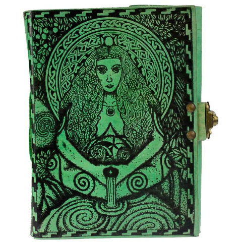 Goddess Leather Blank Book with Latch