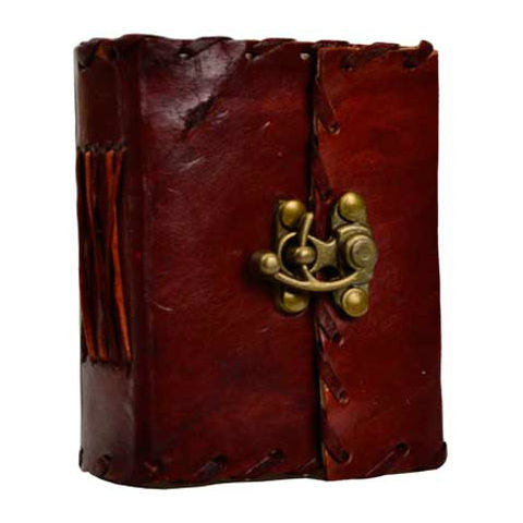 "1842 Poetry Leather Blank Book with Latch 3"" x 4"""