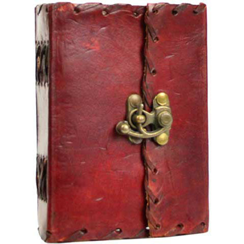 "1842 Poetry Leather Blank Book with Latch 4"" x 5"""