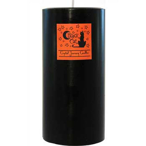 Black Cat Pillar Candle
