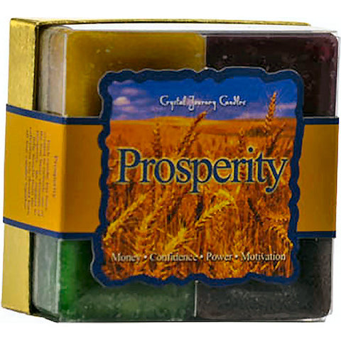 Prosperity Square Votive Candle (set of 4)