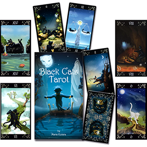 Black Cats Tarot by Maria Kurara
