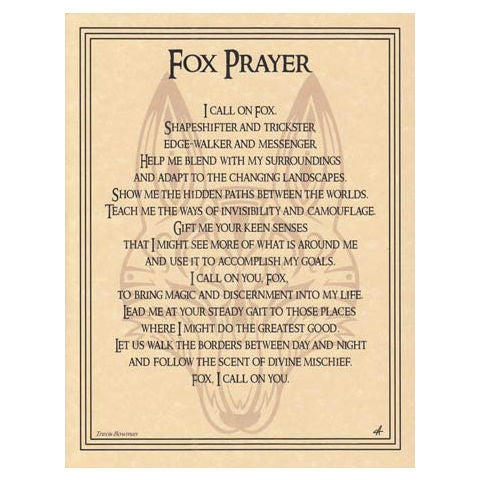 Fox Prayer Poster