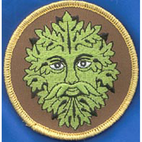 Green Man Iron-On Patch