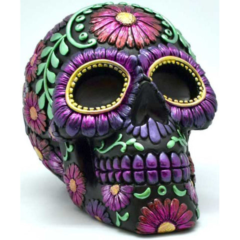 Purple Metallic Skull Bank