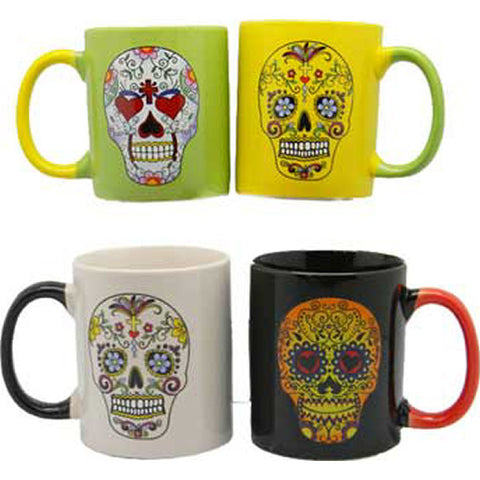 Day of the Dead Mugs (Set of 4)