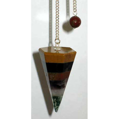 Multi-Layer Gemstone Pendulum