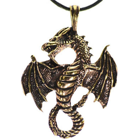 Bronze Celtic Dragon Necklace
