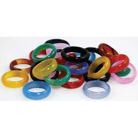 6mm Rounded Agate Rings (20/bag)