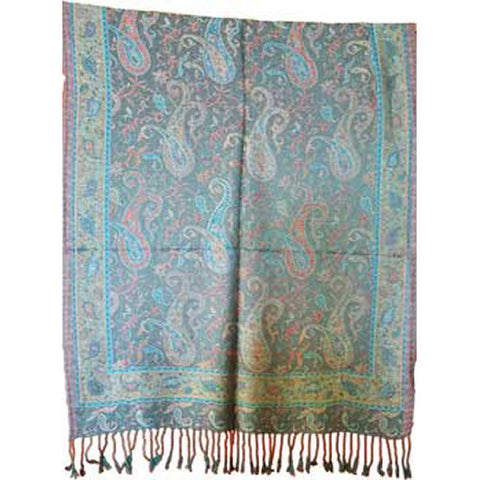 Peacock Paisley Scarf