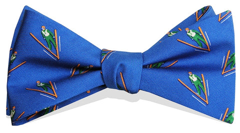 Bird Dog Bay Ski Jump Bow Tie in Blue