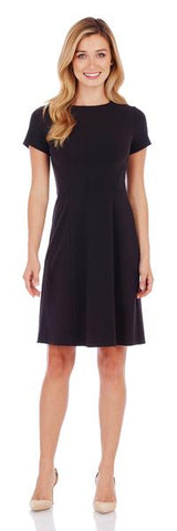 Jude Connally Stella Fit & Flare Dress in Black