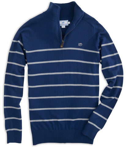 Latitude 1/4 Zip Merino Sweater in Blue Depths