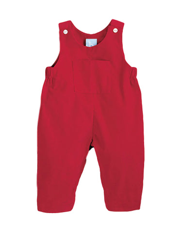 Bella Bliss Corduroy Overall in Red
