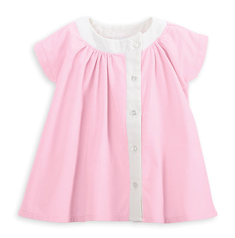 Bella Bliss Corduroy Baby Doll Dress in Pink