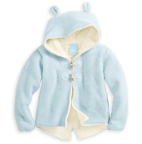 Bella Bliss Lined Cardigan with Ears in Blue