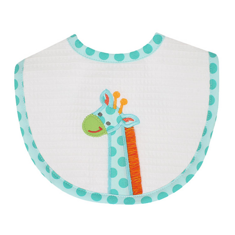 3 Marthas Giraffe Bib in Blue