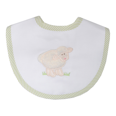 3 Marthas Little Lamb V. Bib in White