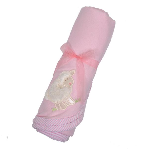 3 Marthas Little Lamb Receiving Blanket in Pink