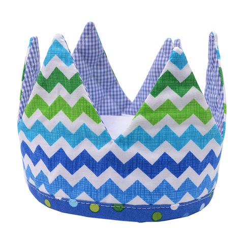 3 Marthas Royal Baby Crown in Blue