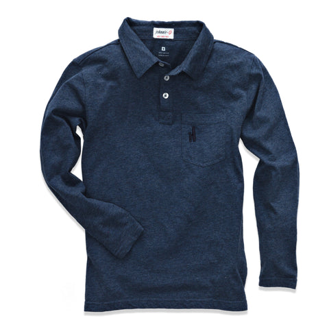 Johnnie-O Burke Jr. Long Sleeve Polo in Maritime