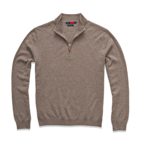 Johnnie-O Striker Sweater in Mocha