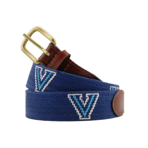 Smathers & Branson Villanova Needlepoint Belt in Navy