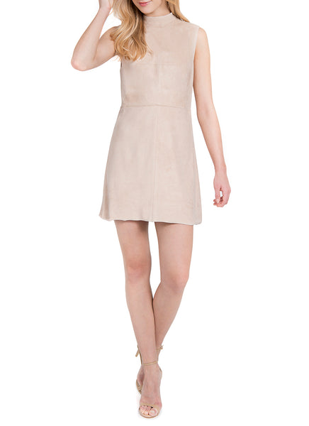 Lysse Suede Dress in Blush