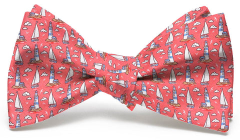Bird Dog Bay Welcome Ashore Bow Tie in Coral