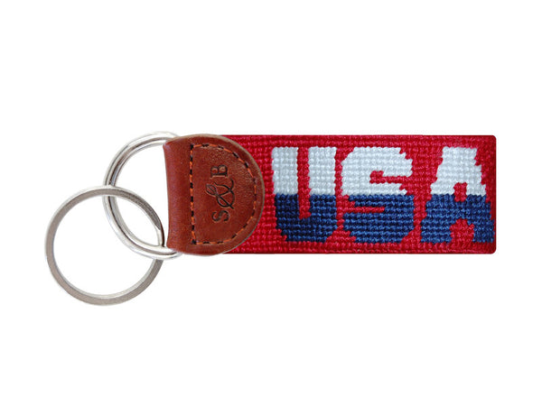 Smathers & Branson USA Key Fob in Red
