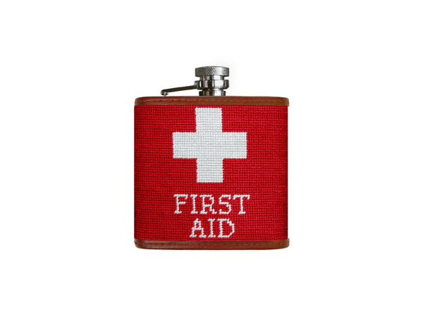 Smathers & Branson First Aid Flask in Red