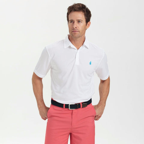 Johnnie-O Fairway Prep-Formance Polo Shirt in White