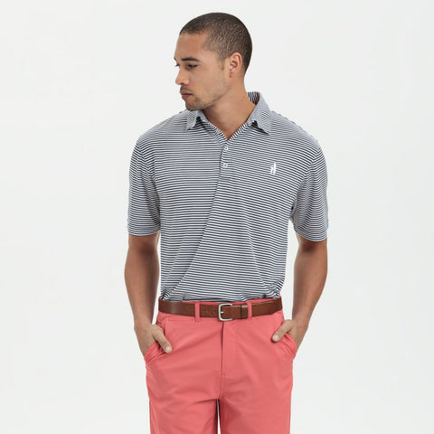 Johnnie-O Bunker Prep-Formance Polo Shirt in Midnight