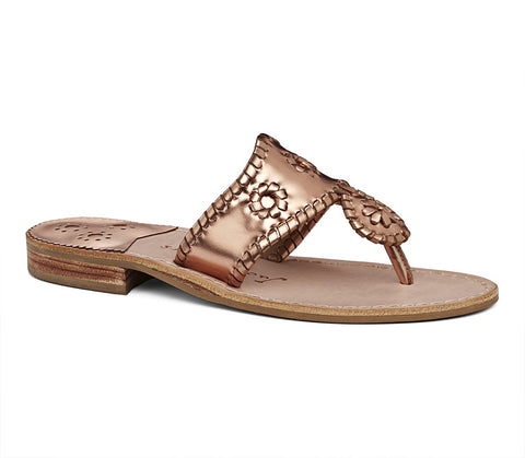 Jack Rogers West Hampton Sandal in Rose Gold
