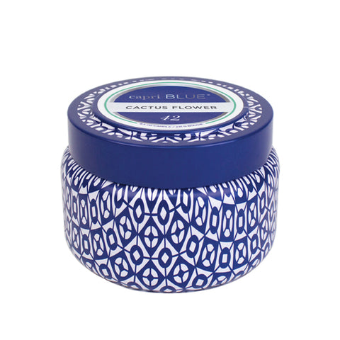 Capri Blue Printed Travel Tin in Cactus Flower