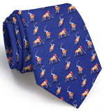 Bird Dog Bay Polo Match Necktie in Navy